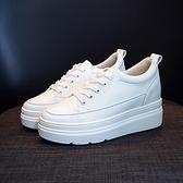 內增高鞋子女秋季新款韓版百搭休閒小白鞋