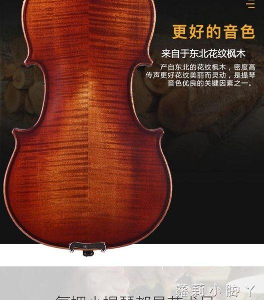 STENNA小提琴初學者考級手工實木成人兒童學生演奏初學入門小堤琴 NMS蘿莉小腳丫