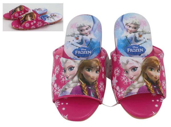 【卡漫城】 冰雪奇緣 室內拖鞋 粉 20/22 cm ㊣版 兒童 艾莎 安娜 Frozen 雪寶 氣墊 舒適 台灣製