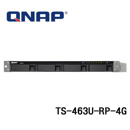 (訂貨要3-5工作天) QNAP 威聯通 TS-463U-RP-4G 4Bay 機架式 NAS 網路儲存伺服器