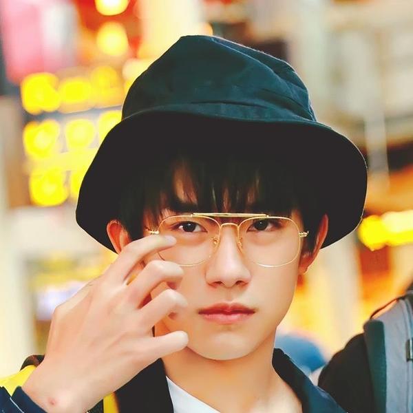 [超豐國際]易烊千璽GD同款黑色光板漁夫帽盆帽夏季遮陽帽折疊1入
