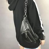 現貨出清包包女 新款韓版時尚百搭單肩斜跨包個性休閒學院風胸包腰包潮   薔薇時尚