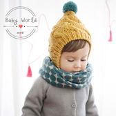圍巾 寶寶 兒童 圓點 圍脖 韓國 保暖造型 BW