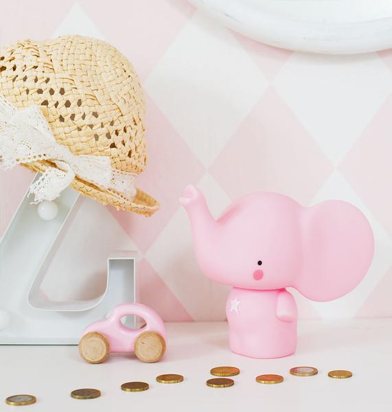 【荷蘭 A little lovely company】造型存錢筒 - 粉紅象 #MBELPI04