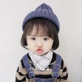 兒童帽子 寶寶秋冬保暖套頭帽男女童幼兒冬天百搭護耳加厚毛線帽