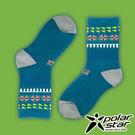 PolarStar 台灣製造 兒童保暖雪襪『藍綠』P16613 MIT 刷毛 舒適 保暖襪