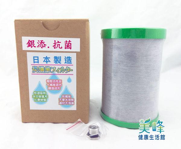 GN-03日本製造進口NSF認證銀添抗菌碳纖維鎖牙濾芯,適用金字塔、佳捷、大同、六角水能量活水機