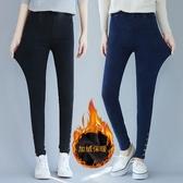 打底褲女外穿高腰秋冬新款小腳褲加肥大尺碼胖mm200斤長褲加絨 降價兩天