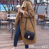 五折 新款韓版中長款修身毛呢外套女學生春秋女裝呢子大衣 莫妮卡小屋