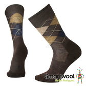 Smartwool 男 鑽石稜格中長襪『栗色/海軍藍』SW0SW819 美國製|保暖襪|登山襪|運動襪