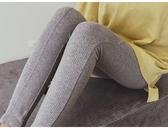 現貨 長褲 素色 螺紋 拼接 彈性 小腳褲 內搭褲 九分褲 M碼【YF91】 BOBI