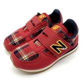 《7+1童鞋》小童 不敗格紋 紳士風華 New Balance  KV220RCI 聖誕節 魔鬼氈 休閒 慢跑鞋 運動鞋 9420  紅色