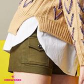 【SHOWCASE】休閒前口袋拼接簡約短褲(綠)