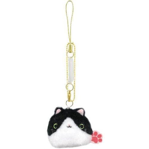 日本限定 2016 新品 沙包貓吊飾 包包吊飾/手機吊飾 黑白貓款 該該貝比日本精品 ☆