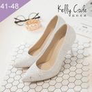 大尺碼女鞋-凱莉密碼-浪漫婚紗唯美新娘尖...