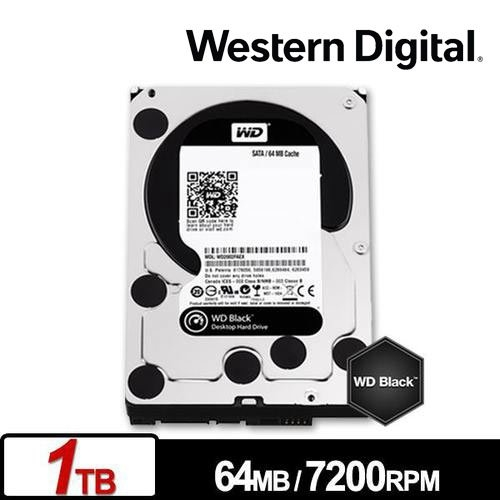 WD 【黑標】 1TB WD1003FZEX (3.5吋/64M/7200轉/SATA3/五年保) 電競硬碟