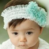*甜蜜蜜親子童裝*韓單《綠色蝴蝶結》公主款甜美髮帶