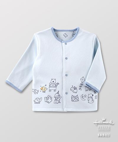 Hallmark Babies 春夏純棉雙面長袖男嬰開襟外套 HE1-B01-06-BB-MB