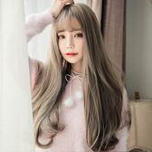 長假髮 假髮女長捲髮大波浪髮套捲髮韓國空氣薄劉海修臉逼真表演蓬松自然