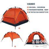 新款裝備登山露營3人雙層雙門速開帳篷 Sq6363『美鞋公社』TW