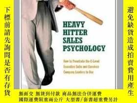 二手書博民逛書店罕見二手!Heavy Hitter Sales Psycholo