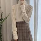 熱賣針織毛衣 2021春季打底衫女秋冬內搭半高領毛衣修身堆堆領針織衫女毛線上衣 coco
