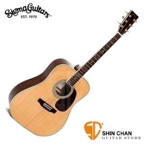 Sigma 吉他 DM-4 單板民謠吉他(DM4/雲杉面單板/經典D桶身) 附贈吉他袋【源自Martin製琴工藝】