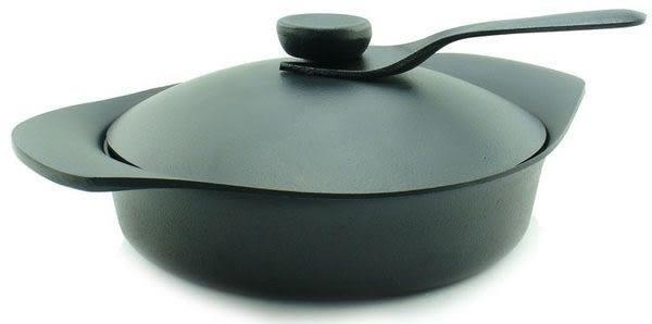 柳宗理-南部鐵器-中深鍋-壽喜鍋-附黑鐵蓋+叉-日本大師級商品