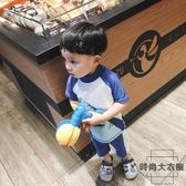 韓國兒童泳衣男童防曬抗UV短袖大鯊魚分體沖浪服潮【時尚大衣櫥】