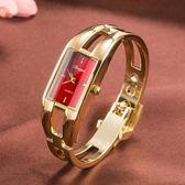 手錶 時尚潮流行女士手鐲腕錶 簡約休閒石英防水電子錶 韓國版配飾手錶【中秋節】