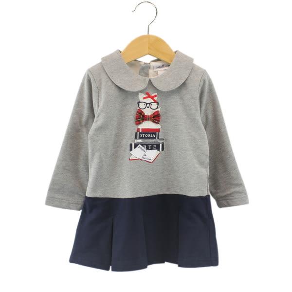 【愛的世界】純棉長袖拉鍊洋裝/2~4歲-台灣製- ★秋冬洋裝套裝