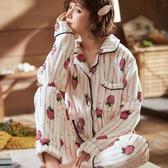 睡衣女冬季珊瑚絨加厚加絨保暖秋冬可愛長袖開衫法蘭絨家居服套裝新年禮物