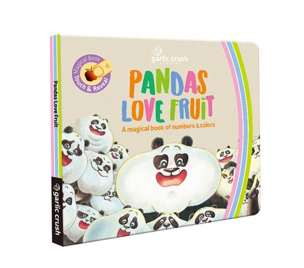 Pandas Love Fruit 熊貓黑白猜冷藏數字書:A magical numbers and colors book..