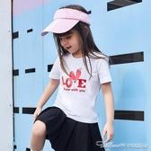 女童夏裝女寶寶短袖T恤新款上衣t兒童6純棉半袖卡通1潮35歲7(速度出貨)
