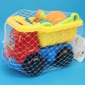 砂石車沙灘工具桶 海灘工具桶 6件式 F-789-2/一桶入(定99) 小孩堆沙工具 玩沙模具-創 F-789-2