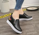 小白鞋         內增高女鞋款韓版休閒百搭一腳蹬懶人鞋小白鞋學生鞋單鞋  瑪麗蘇
