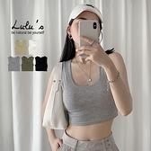 LULUS【A01210348】G自訂款羅紋無袖短版上衣5色