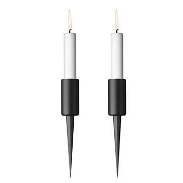 丹麥 Menu Pipe Candlestick 2pcs 維京 釘式燭台 兩件組