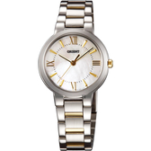 ORIENT 東方錶 DRESS 美漾都會時尚女錶-珍珠貝x雙色版/30mm FQC0N003W