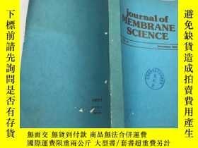 二手書博民逛書店journal罕見of MEMBRANE SCIENCE 1983Y383796 出版1983