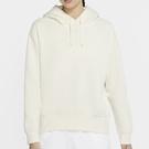 Nike Sportswear 女裝 長袖 帽T 棉質 休閒 刷毛 落肩 米【運動世界】CZ2591-113