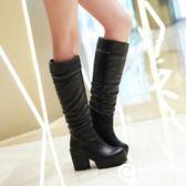高跟粗跟長靴中高筒女靴騎士靴 Xgpj22