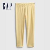 Gap女幼童 童趣印花鬆緊內搭褲 664107-黃色