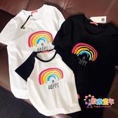 親子裝 家庭裝一家三口母子母女裝洋氣夏裝2019新款潮春秋短袖T恤 6色