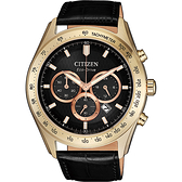 情人節推薦款 CITIZEN 星辰 光動能計時手錶-香檳金色/44mm CA4453-14E