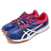 【六折特賣】Asics 排羽球鞋 Court Break 藍 白 膠底 男鞋 運動鞋 基本款【PUMP306】 1071A00-3400