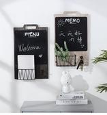 簡約牆上留言板置物架創意餐廳牆面黑板掛飾門口牆壁裝飾品 全館免運