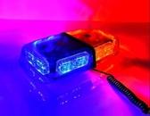 超亮雷電爆閃燈汽車紅藍強磁吸頂短排警燈工程車黃色LED開道警示【解憂雜貨店】