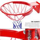 台灣製造 強化雙彈簧籃球框架(含籃球網)減震金屬籃框.耐用籃球架子籃網.避震籃架不含籃球板