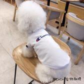狗狗衣服夏裝冠軍潮牌薄款透氣泰迪雪納瑞比熊法斗貓咪寵物衣服